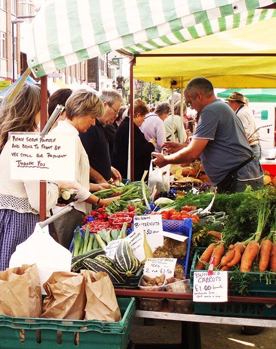 Vegetables at ELtham Market