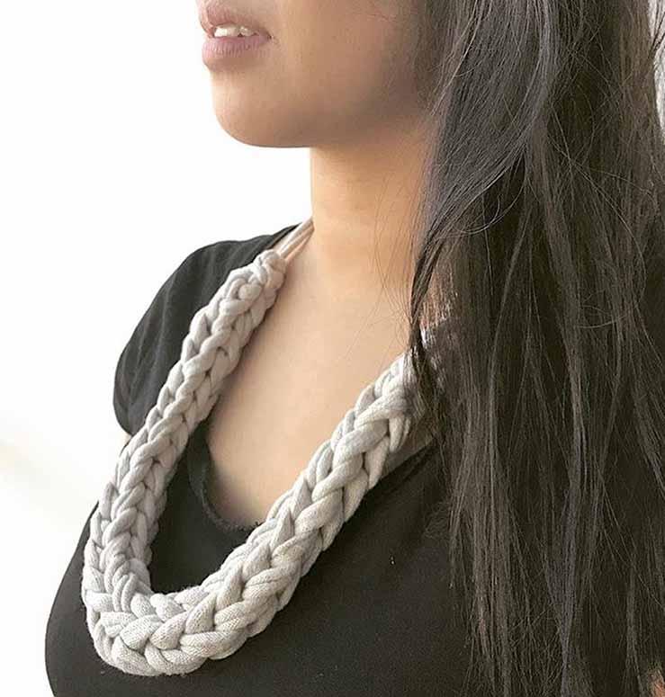 crochet necklaces at Herne Hill Market